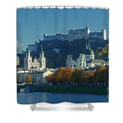 Salzburg Austria In Fall Shower Curtain by Rudi Prott
