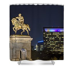 Shower Curtain featuring the photograph Sam Houston At Night by Tim Stanley