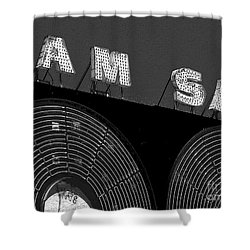 Sam The Record Man At Night Shower Curtain