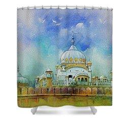 Samadhi Ranjeet Singh Shower Curtain by Catf