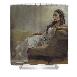 Samantha Painted From Life Shower Curtain by Karen Whitworth