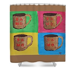 Samo Mug Shower Curtain