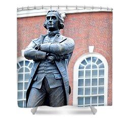Samuel Adams Statue Massachusetts State House Shower Curtain