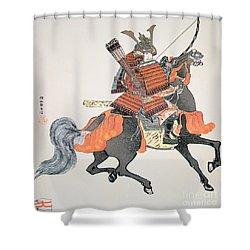 Samurai Shower Curtain by Japanese School