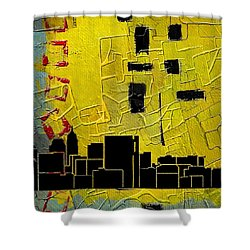 San Antonio 002 C Shower Curtain by Corporate Art Task Force