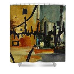 San Antonio 003 B Shower Curtain by Corporate Art Task Force