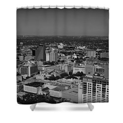 San Antonio - Bw Shower Curtain