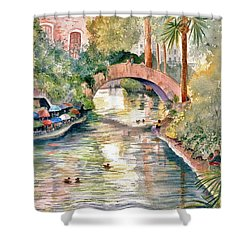 San Antonio Riverwalk Shower Curtain