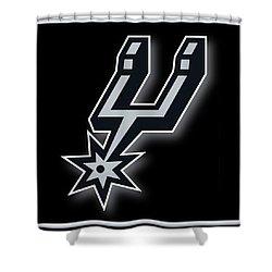 San Antonio Spurs Shower Curtain by Tony Rubino