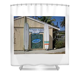 San Clemente Surfboards Shower Curtain