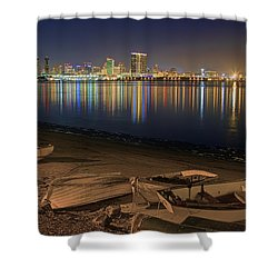San Diego Harbor Lights Shower Curtain
