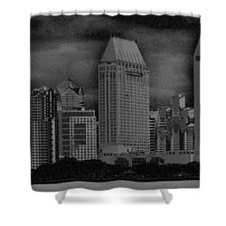 San Diego Storm Shower Curtain by Kirt Tisdale