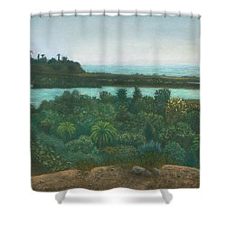 San Elijo Lagoon Shower Curtain