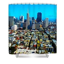 San Fran Colors Shower Curtain