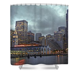 San Francisco Port All Lit Up Shower Curtain