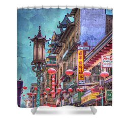 San Francisco Chinatown Shower Curtain