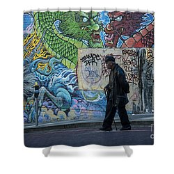 San Francisco Chinatown Street Art Shower Curtain