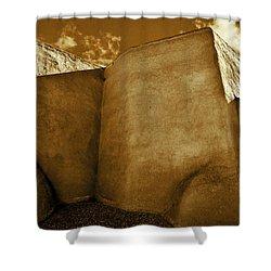 Shower Curtain featuring the photograph San Francisco De Asis Mission Church Taos II by John Hansen