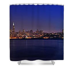 San Francisco Dusk Panorama Shower Curtain