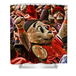San Francisco Giants Mascot Lou Seal Shower Curtain
