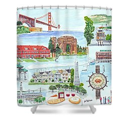 San Francisco Highlights Montage Shower Curtain