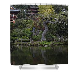 San Francisco Japanese Garden Shower Curtain by Mike Reid