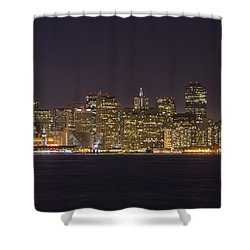 San Francisco Nighttime Skyline 1 Shower Curtain