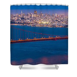 San Francisco Panorama Shower Curtain by Inge Johnsson