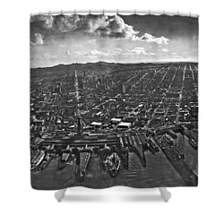 San Francisco Panorama Shower Curtain by Underwood Archives