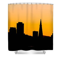 San Francisco Silhouette Shower Curtain by Bill Gallagher
