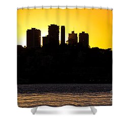 Shower Curtain featuring the photograph San Francisco Silhouette by Kate Brown