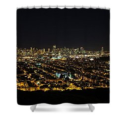 Shower Curtain featuring the photograph San Francisco Skyline by Dave Files