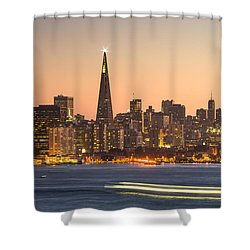 San Francisco Skyline Late Evening Shower Curtain