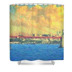 San Francisco Shower Curtain by Taylan Apukovska