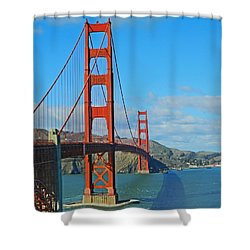 San Francisco's Golden Gate Bridge Shower Curtain by Emmy Marie Vickers