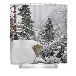 Shower Curtain featuring the photograph San Jacinto Winter Wilderness by Kyle Hanson