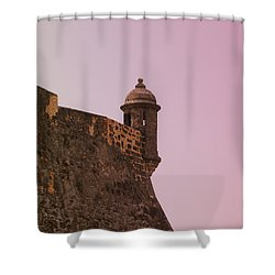 San Juan - City Lookout Post Shower Curtain by Richard Reeve