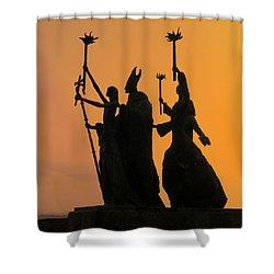 San Juan - La Rogativa Sunset Shower Curtain