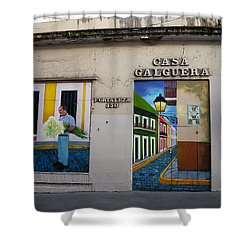 San Juan - Casa Galguera Mural Shower Curtain by Richard Reeve
