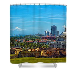 Shower Curtain featuring the photograph San Juan by Mitch Cat