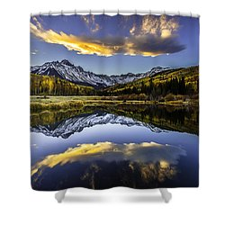 San Juan's Fire In The Sky Shower Curtain
