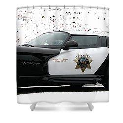 San Luis Obispo County Sheriff Viper Patrol Car Shower Curtain