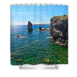 San Pietro Island - Le Colonne Shower Curtain