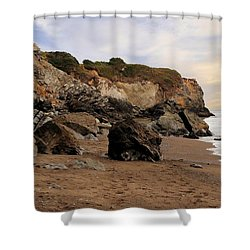 Sand And Rocks Shower Curtain