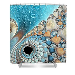 Sand And Sea Shower Curtain by Heidi Smith