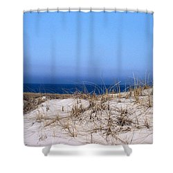 Sand And Sky Shower Curtain by Catherine Gagne