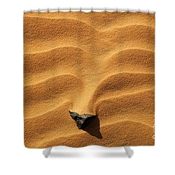 Sand And Stone Shower Curtain by Robert Preston
