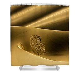 Sand Avalanche Shower Curtain by Michael Cinnamond
