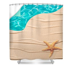 Sand Background Shower Curtain by Amanda Elwell