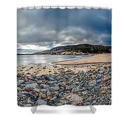 Sand Beach At Acadia Shower Curtain